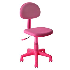 Translucent Fabric Desk Chair-Pink