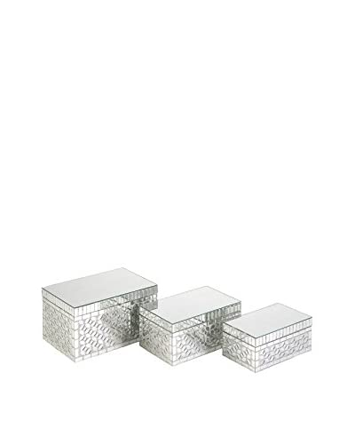 Set of 3 Mandiline Mirror Mosaic Boxes