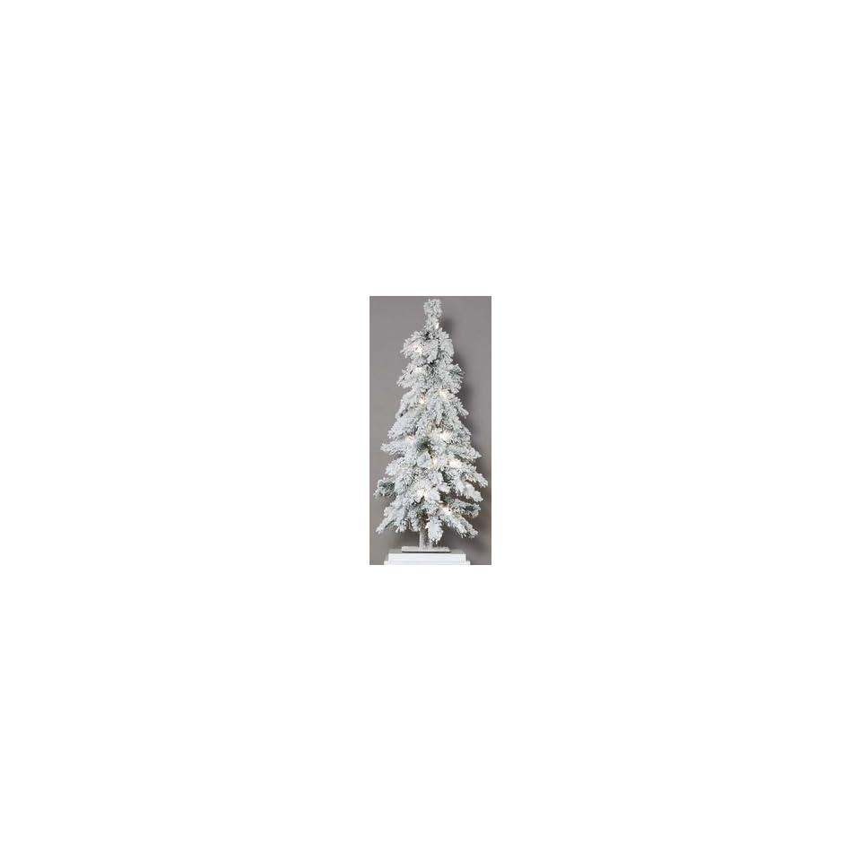 3 Heavy Flocked Snow Pre Lit Mountain Pine Christmas Tree