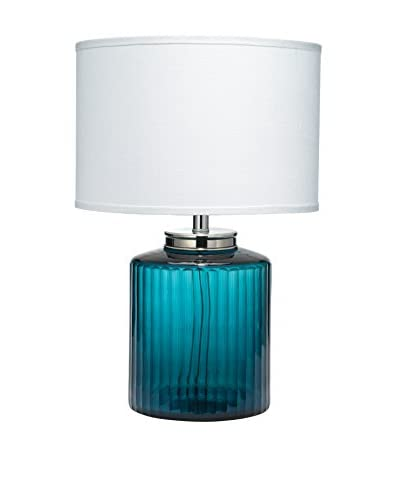 Jamie Young Company Carson Table Lamp With Medium Drum Shade, Navy Blue