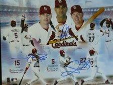 Signed Cardinals, St. Louis (Scott Rolen / Jim Edmonds / Albert Pujols) 16x20 Photo by Scott Rolen Albert Pujols and Jim Edmonds autographed