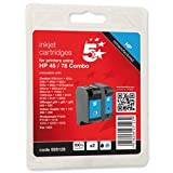 Brand New. 5 Star Compatible Inkjet Cartridge Yield 833pp Black 450pp Colour [HP 45 78 SA308AE Equivalent] [Pack 2]
