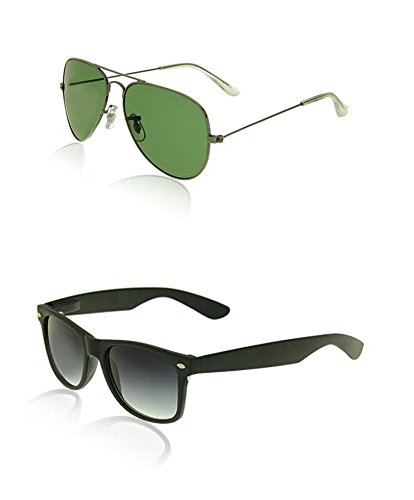 Royal Son Royal Son Unisex Flat Green Aviator N Wayfarer -WHAT15020 (Multicolor)