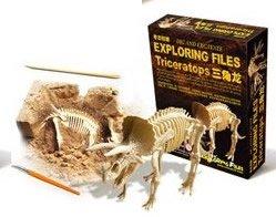 【気分は考古学者】トリケラトプス 骨格標本発掘キット 気分は考古学者!思わず...