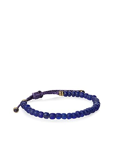 Link UP BR515BU Pull Thread Bracelet with Color Beads