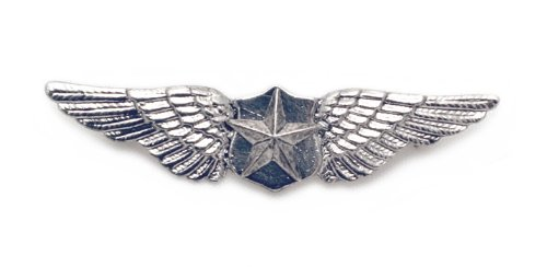 Silver Pilot Wings Pin for Military or Steampunk
