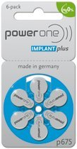 60 Powerone Hearing Aid Batteries Size: 675P Cochlear (Implant Batteries compare prices)
