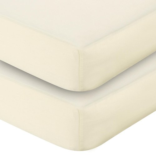 Sateen Crib Sheet 2 Pack - Ecru - 1