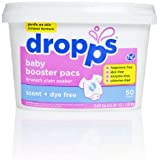 Dropps Baby Booster Pacs, Scent + Dye Free, 50 Loads