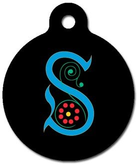 Monogram Letter S Pet ID Tag for Dogs and Cats