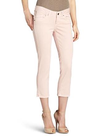 D.E.P.T. Women's Pigment Color Cropped Jean, Pale Salmon, 27