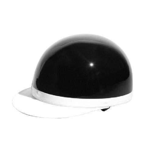 [ バイクパーツセンター ] ヘルメット 半キャップ白ツバ ブラック KC-100A [ サイズ ] 57~59cm [ 品番 ] 7101