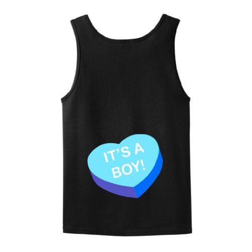 It'S A Boy Maternity Themed Tank Top Medium Black front-938174