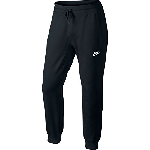Nike Aw77 Ft Cuff Pantaloni, Colore Nero (Black/White), L