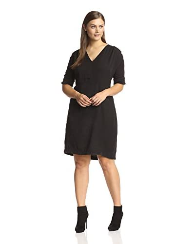 Nu Construction Plus Women's Adrianna Dress with Faux Leather Accent