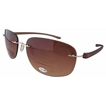 Eyekepper Unisex - Erwachsene Randlos Sonnenbrille mit Leseteil/Bifokal +1.00