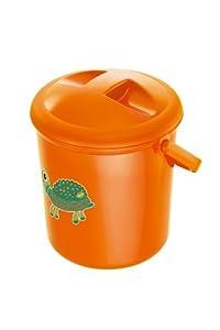 Rotho Babydesign - Cubo para niño, diseño con tortuga, color naranja por Rotho Babydesign