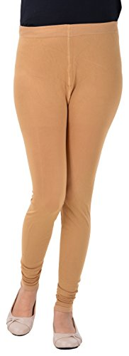 SHREE BHAVANI Women\'s Cotton Slim Fit Leggings (Beige)