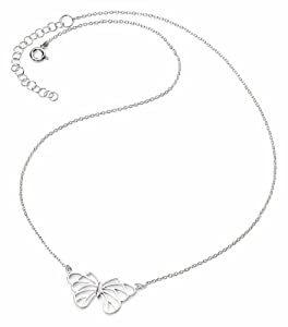 Elements Sterling Silver Women's N3536 Butterfly Necklace of 41 +5 cm extender