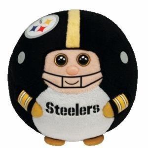 Ty Beanie Ballz 13 Pittsburgh Steelers Plush by TY Beanie Ballz