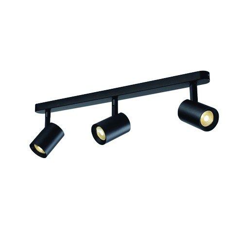 SLV Deckenstrahler Debasto Spot Triple, 22W, COB LED, 3000 K, 30 Grad, schwarz 148520