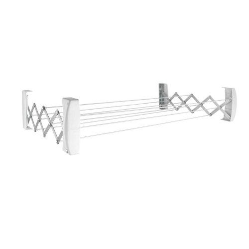 Leifheit Teleclip100 Wäscheständer, Wäschetrockner, Wandmontage, Weiß