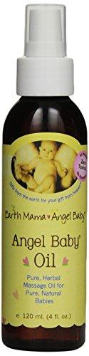 Earth Mama Angel Baby, Angel Baby Oil, 4 Ounce