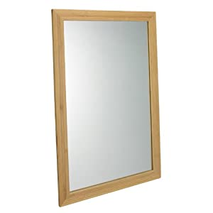 Relaxdays gmbh bamboo mirror wall mirror 60 x for Miroir 60 x 40