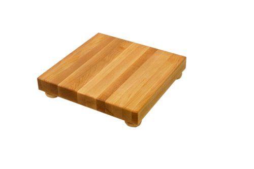 John Boos 12-Inch Square Maple Cutting Board with Feet