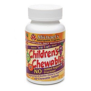 Michael'S Naturopathic Programs Children'S Chewables Kid'S Natural Multi-Vitamin, Tablets 60 Ea