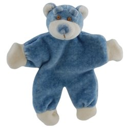 Simply Fido Wally 5-Inch Stuffless Blue Bear with Crinkle Paper Dog Toy