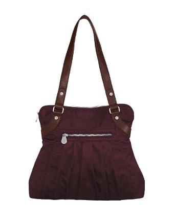 Baggallini Luggage Leather Trim Audrey Satchel, Garnet, One Size