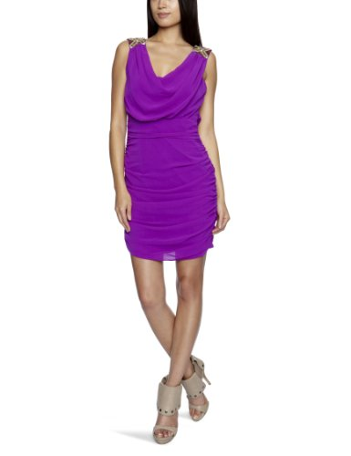 Lipsy Cowel Front Beaded Shoulder Strappy Women's Dress Wild Berry  8