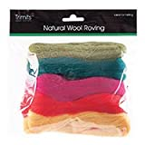 Impex Trimits Natural Wool Roving 50gm Bag - Assorted Brightsby Impex