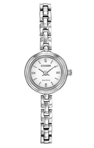 Citizen Watch Silhouette Women's Quartz Watch with Mother of Pearl Dial Analogue Display and Two Tone Stainless Steel Gold Plated Bracelet EG2841-56A