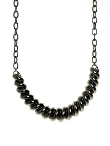 Belle Noel By Kim Kardashian Ram's Horn Collar Necklace - Gunmetal