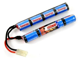 9.6V NiMH 1600mAh Butterfly Mini Battery Pack with Mini Tamiya Connector for airsoft guns #11423