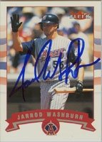 Jarrod Washburn Anaheim Angels 2002 Fleer Autographed Hand Signed Trading Card. by Hall+of+Fame+Memorabilia
