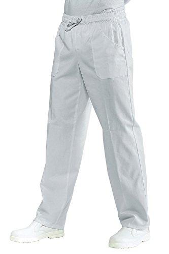 Isacco Pantalone con elastico Bianco, Bianco, L, 100% Cotone, 190 gr/m²