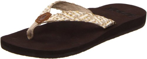 Reef Women's Reef Mallory Thong Sandal,Brown/Metallic,9 M US