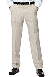 Crease Resistant Active Waistband Flat Front Lightweight Trousers