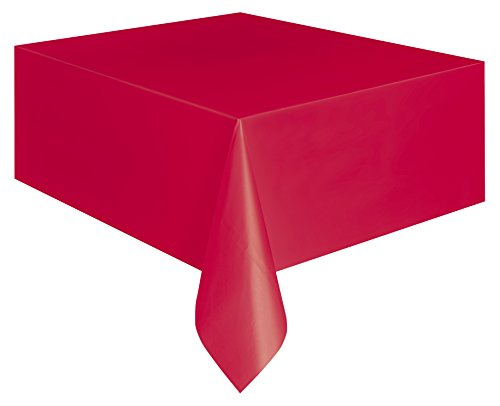 Plastic Table Cover Rectangle -Red