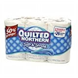 Quilted Northern Bath Tissue, Soft & Strong, Double Roll, Unscented, 12 Ct