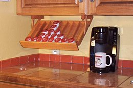 Ultimate-Kitchen-Storage-Under-Cabinet-Mounted-Coffee-Pod-Holder-Handmade-Hardwood-Stores-up-to-40-single-serve-coffee-pods
