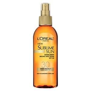 L'Oreal Sublime Sunscreen SPF 30 Oil Spray 5 OZ