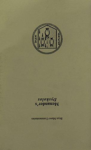 Dyskolos (Bryn Mawr Commentaries, Greek)
