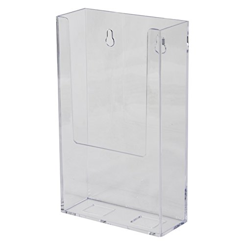 Clear-Ad - LHW-M141 - Acrylic Wall Mount Brochure Holder 4 x 9 in Bulk (Pack of 100)