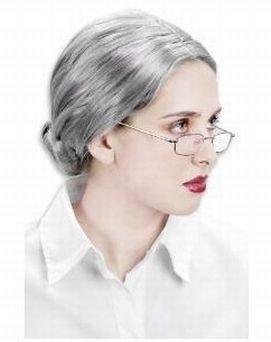 白髪ウィッグ 老婆に変身 ハロウィン なりきり 変装グッズ びっくり おばあちゃんみたい!55cm
