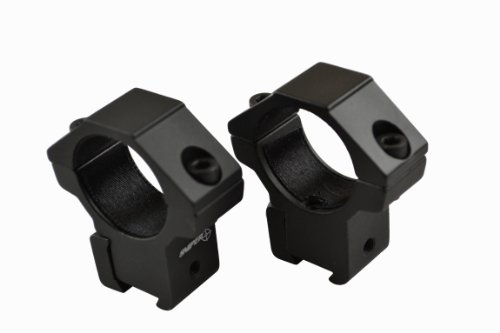 "Airgun/.22 Medium Profile Compact 2-Piece 1"" Rings"