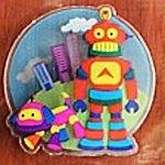 3D Sticker Roboter & Aliens